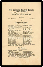 """Program and cast of characters for """"The Knave of Hearts"""" by Louise ..."""